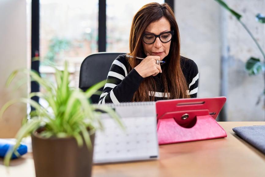 businesswoman planning delegation