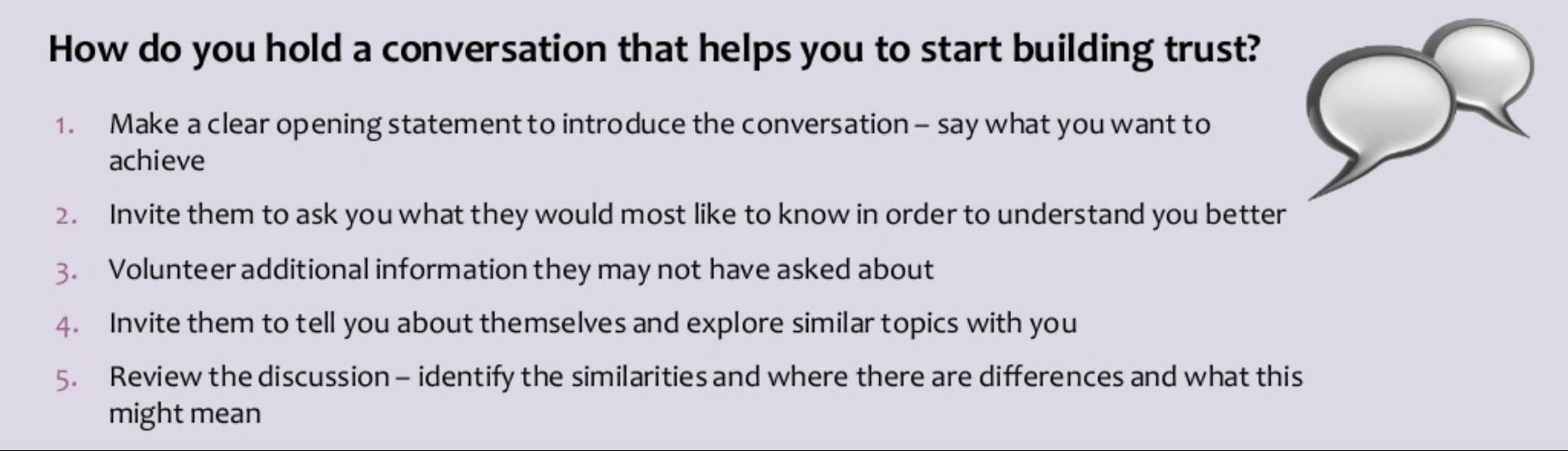 hold a conversation