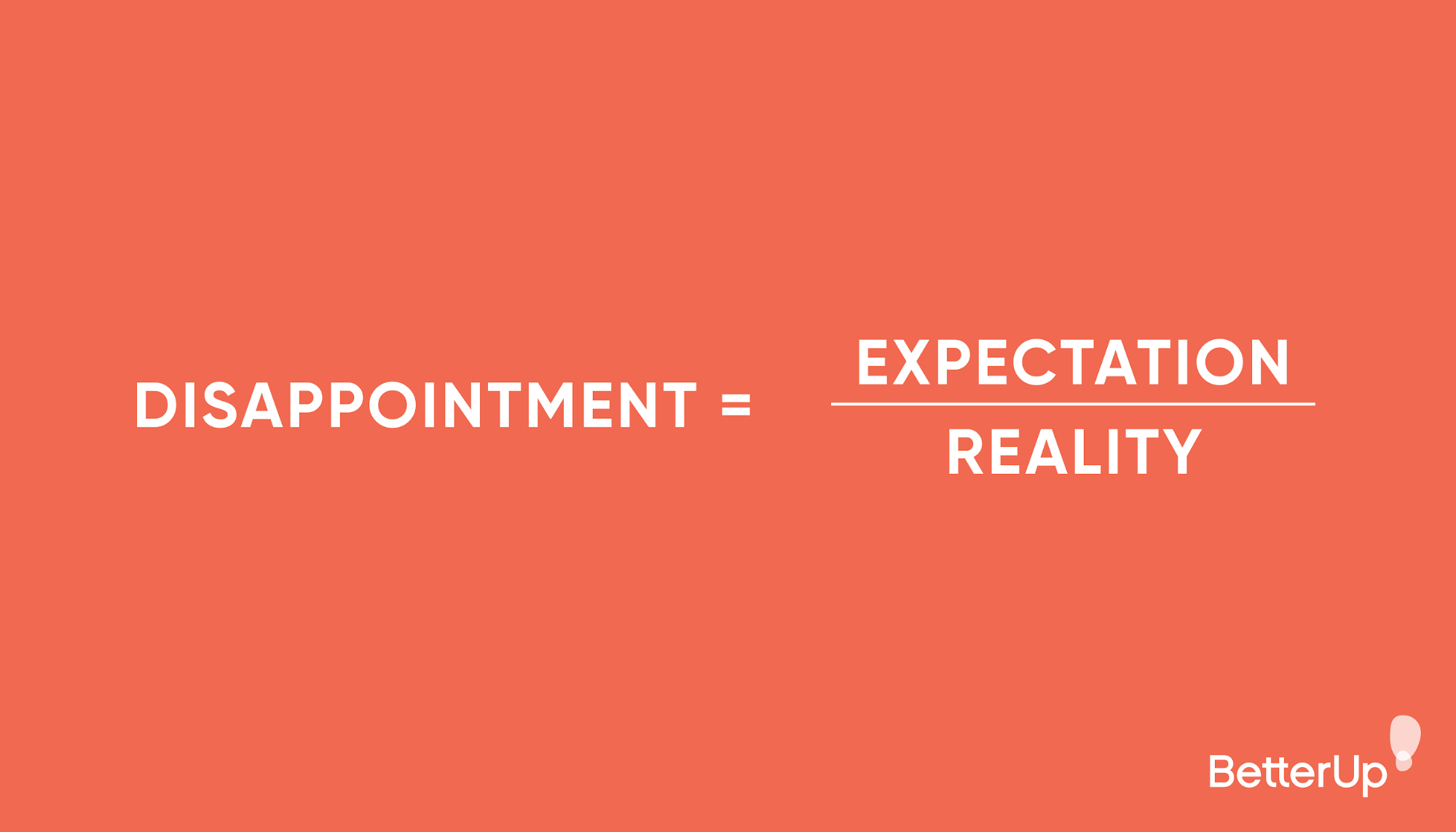 disappointment equations - how to deal with disappointment