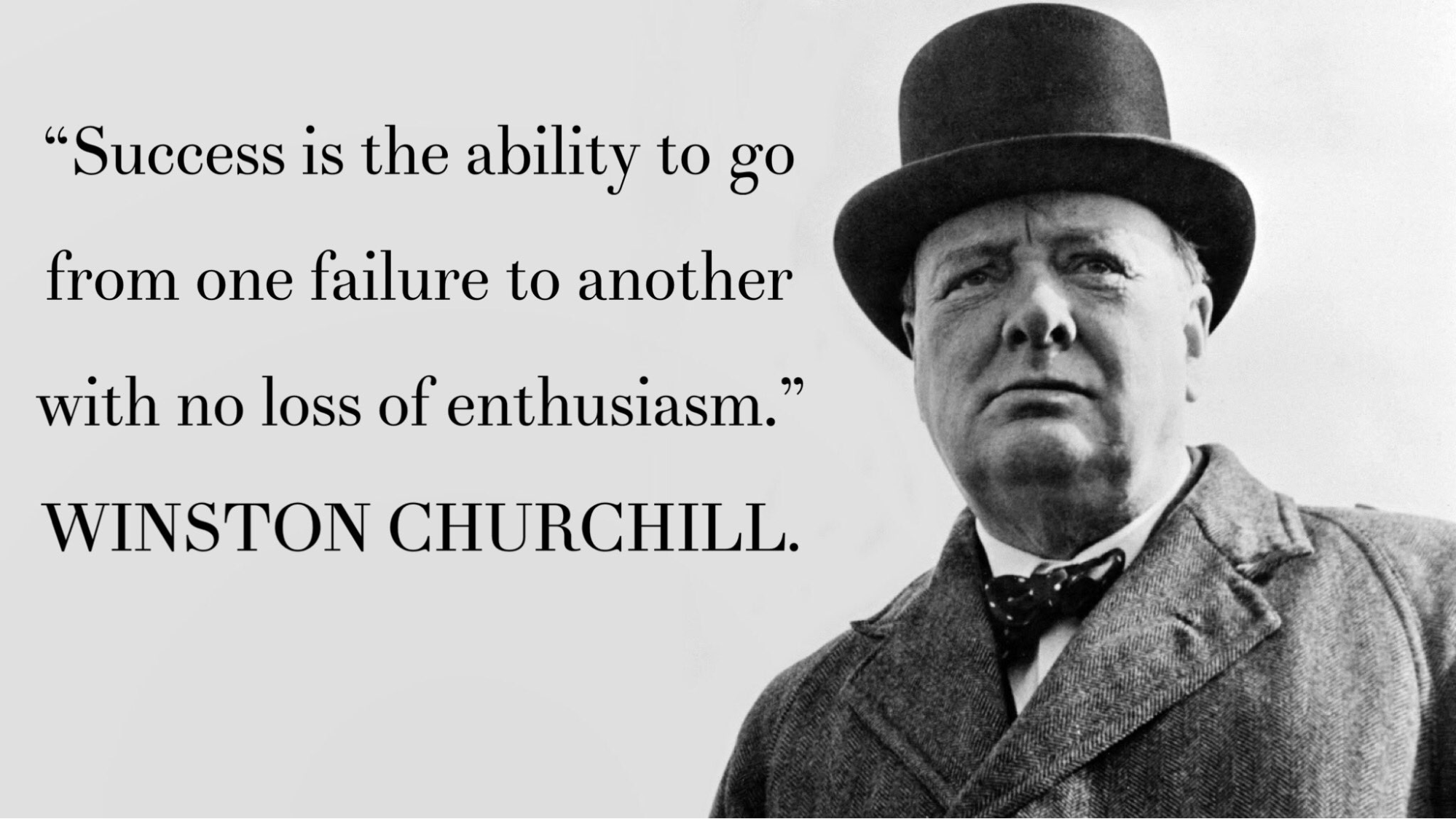 winston churchill quote - how to deal with disappointment