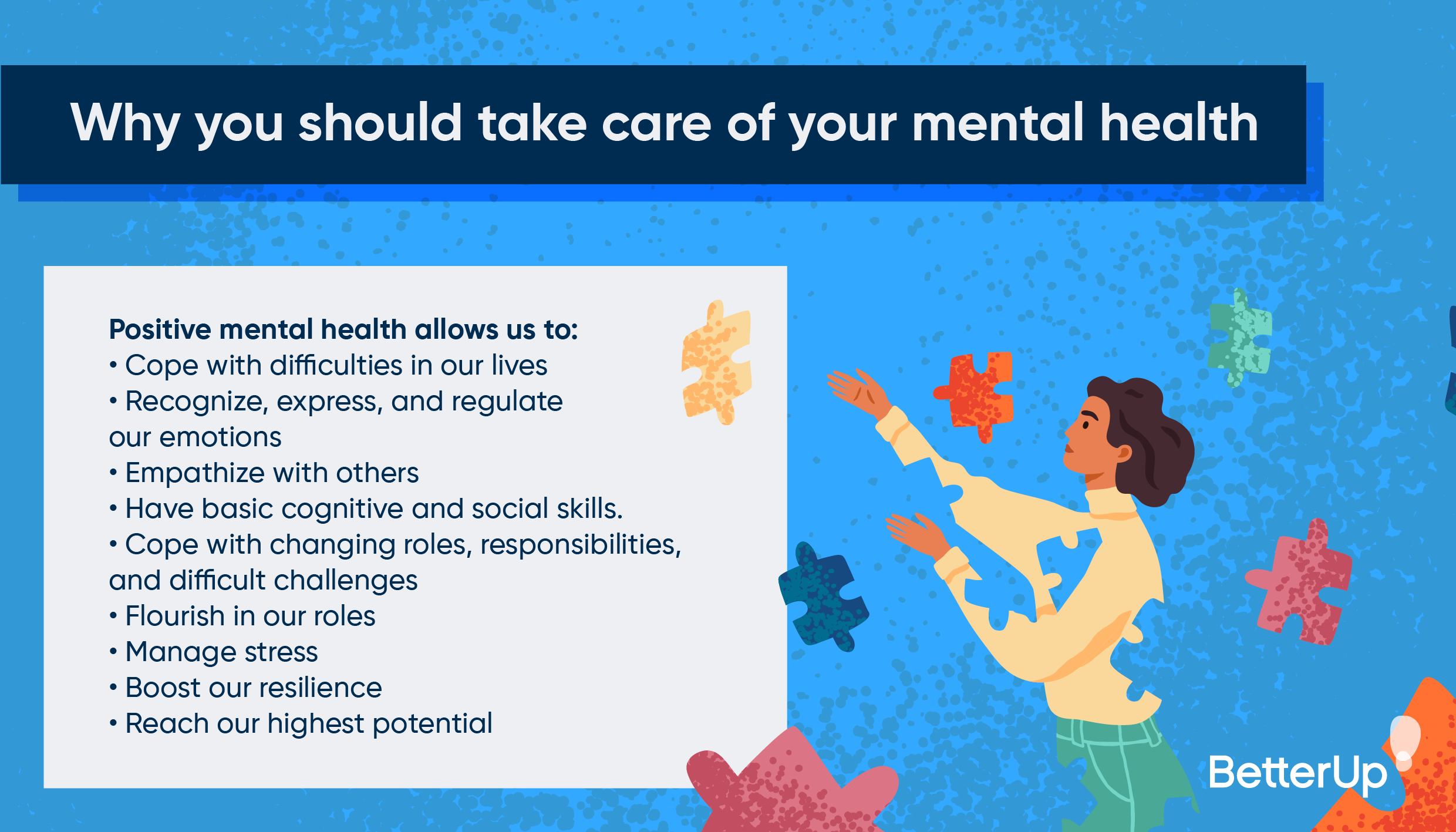 reasons to take care of your mental health