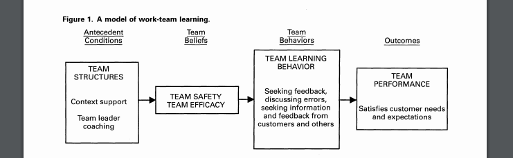 a model of work team learning