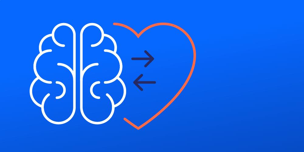brain-heart line drawing