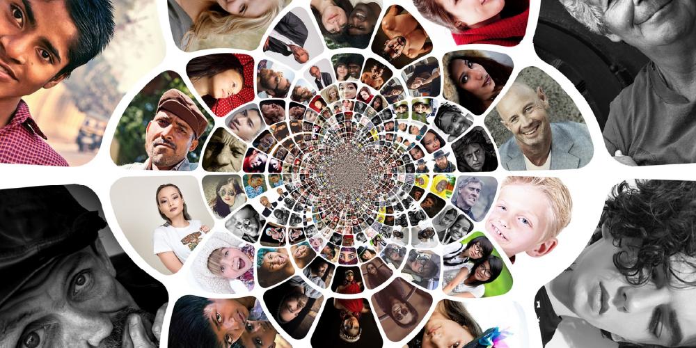 mosaic of people