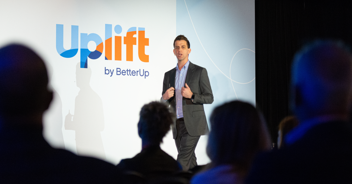 alexi speaking at the uplift 2020 conference